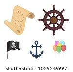 pirate  bandit  rudder  flag ...   Shutterstock .eps vector #1029246997