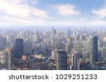 aerial view of shanghai... | Shutterstock . vector #1029251233