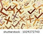 abstract tick or cross mark ...   Shutterstock .eps vector #1029272743