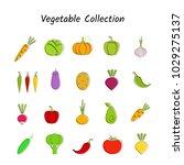 stylish design vegetable icon... | Shutterstock .eps vector #1029275137