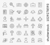 human resources line icons set. ... | Shutterstock .eps vector #1029278593