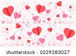 valentines day vector background | Shutterstock .eps vector #1029283027