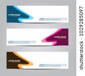banner background.modern vector ... | Shutterstock .eps vector #1029285097