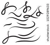 vector set of hand drawn... | Shutterstock .eps vector #1029289633