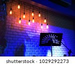 colorful light in the night pub ...   Shutterstock . vector #1029292273