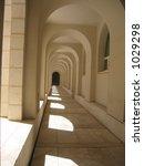 an outdoor hallway at israel's... | Shutterstock . vector #1029298
