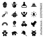 solid vector icon set   santa... | Shutterstock .eps vector #1029298603