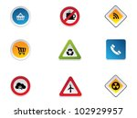 road signs | Shutterstock .eps vector #102929957