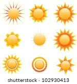 vector sun   Shutterstock .eps vector #102930413