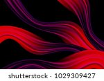 wavy abstraction in red and... | Shutterstock .eps vector #1029309427