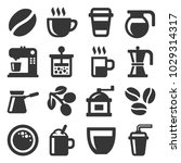 coffee icons set on white...   Shutterstock .eps vector #1029314317