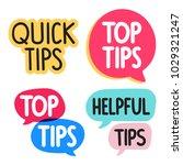 quick  top  helpful tips... | Shutterstock .eps vector #1029321247