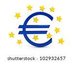 euro sign over white background | Shutterstock . vector #102932657