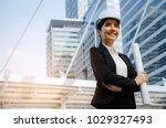 young asian business  engineer... | Shutterstock . vector #1029327493
