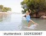 healthy tourist middle age... | Shutterstock . vector #1029328087