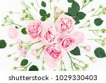 stylish floral pattern with... | Shutterstock . vector #1029330403