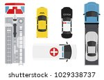 emergency transport set from... | Shutterstock .eps vector #1029338737