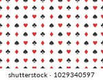seamless pattern of playing... | Shutterstock .eps vector #1029340597