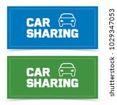 car sharing banner design with... | Shutterstock .eps vector #1029347053