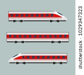 train. modern passenger express ... | Shutterstock . vector #1029347323
