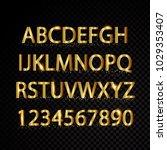 gold vector alphabetical...   Shutterstock .eps vector #1029353407