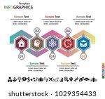 infographics business template... | Shutterstock .eps vector #1029354433