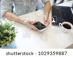 microchip  cpu  processor ... | Shutterstock . vector #1029359887
