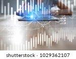 candlestick chart. stock market ...   Shutterstock . vector #1029362107