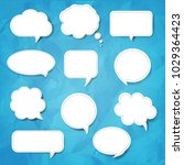 speech bubble set blue... | Shutterstock .eps vector #1029364423