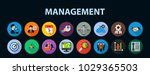 management flat icon concept.... | Shutterstock .eps vector #1029365503