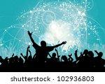 vector party background | Shutterstock .eps vector #102936803