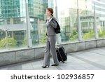 beautiful business woman... | Shutterstock . vector #102936857