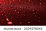 raindrops on metal surface ... | Shutterstock . vector #1029378343