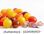 variety of plum  grape  cherry  ... | Shutterstock . vector #1029390937