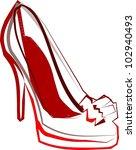 high heeled shoes | Shutterstock .eps vector #102940493