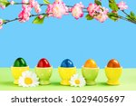 Colorful Easter Eggs In Eggcup...