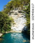 blue lake in abkhazia  which is ...   Shutterstock . vector #1029406117
