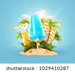 refreshment ice cream and... | Shutterstock . vector #1029410287