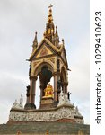 Small photo of Albert Memorial, a gothic statue of Prince Albert, ordered by Queen Victoria as a souvenir of her husband.