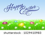 raster version. happy easter... | Shutterstock . vector #1029410983