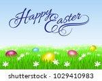 raster version. happy easter... | Shutterstock . vector #1029410983