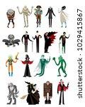 evil monsters group | Shutterstock .eps vector #1029415867