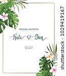 wedding card. invitation...   Shutterstock .eps vector #1029419167