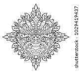 hanuman king of monkey thai... | Shutterstock .eps vector #1029419437