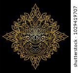 hanuman king of monkey thai... | Shutterstock .eps vector #1029419707