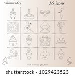 i love you womens doodle 16...   Shutterstock .eps vector #1029423523