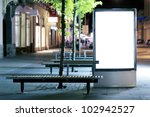 blank advertising panel on a... | Shutterstock . vector #102942527
