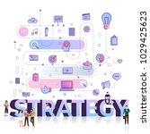 "flat design typography concept ""... | Shutterstock .eps vector #1029425623"
