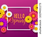 colorful spring background with ... | Shutterstock .eps vector #1029431173