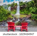 scenic basaltic rock form... | Shutterstock . vector #1029434947
